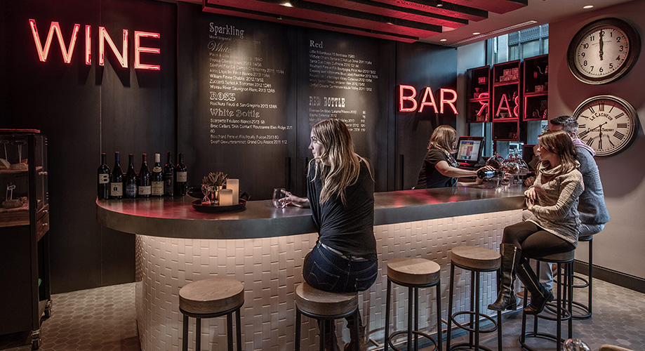 Wine Bar at a Virgin Hotel